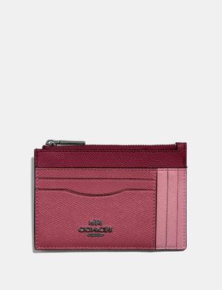 Coach Large Card Case In Colorblock