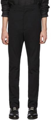 Deepti Black Low Crotch Membrane Trousers