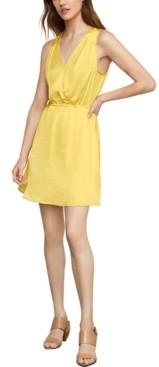 BCBGMAXAZRIA Surplice Satin A-Line Dress