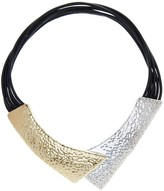 Simon Sebbag Hammered Two-Tone Magnetic Collar Necklace