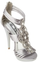 Women's De Blossom Sally Platform Satin Sandal with Rhinestones - Assorted Colors