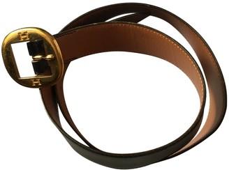 Hermes H Navy Leather Belts