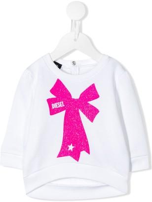 Diesel Bow Print Fleece Sweatshirt