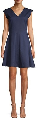 Draper James Fit-and-Flare Cotton Chino Dress