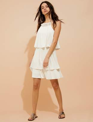 Halston Pleated jersey dress