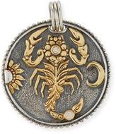 Konstantino Cancer Carved Zodiac Pendant with Diamond