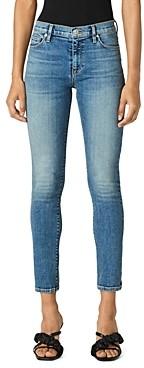 Hudson Mid Rise Skinny Ankle Jeans in Medium Indigo