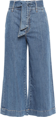 Joie Marylu Tie-front Denim Culottes