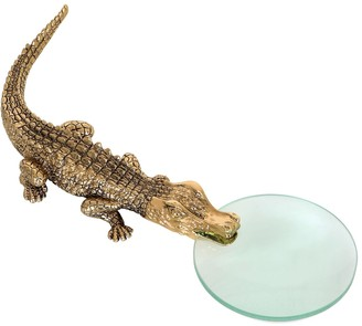 L'OBJET Crocodile Gold Magnifying Glass