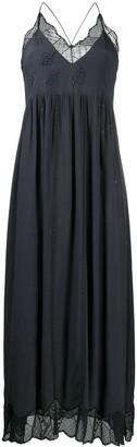 Zadig & Voltaire Ralla leaf motif maxi dress