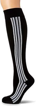Hudson Women's Ath-Luxury Socks, (Black 0005), 6 to 8