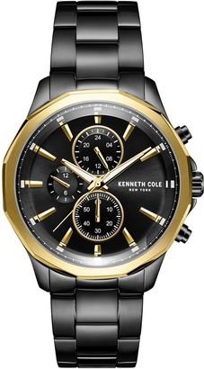 Kenneth Cole NY Men's Black Stainless Steel Bracelet Watch