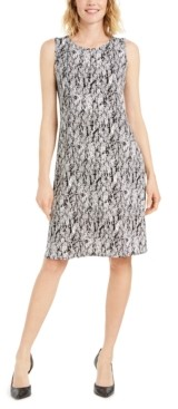 Alfani Printed Scoop-Neck Dress, Created for Macy's