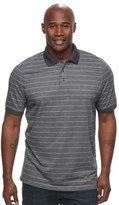 Croft & Barrow Big & Tall True Comfort Classic-Fit Cool & Dry Striped Performance Polo