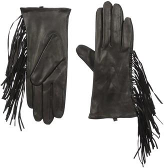 Soia & Kyo Women's Selene Leather Fringe Gloves