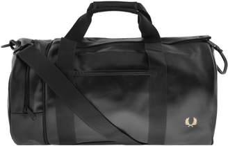 Fred Perry Twin Tonal Barrel Bag Black