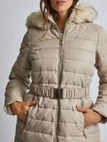 Dorothy Perkins Luxe Short Padded Jacket - Beige