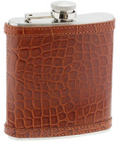Croc-embossed leather flask