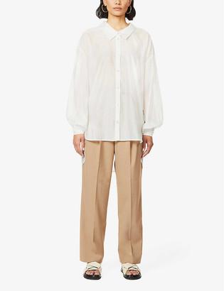 Designers Remix Sonia puff-sleeved woven shirt