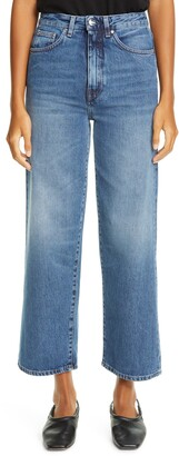 Totême Flair High Waist Flare Crop Jeans