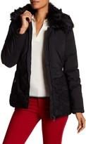 Desigual Faux Fur Spread Collar Coat