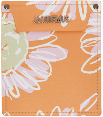 Jacquemus Orange Flowers Le Porte Poche Wallet