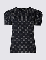 Limited Edition Pure Cotton Printed Puff Sleeve T-Shirt