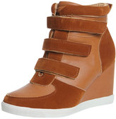 Nicole Camel Wedged Hi Top Trainer