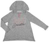 Mayoral I Don't Sweat I Sparkle Hooded Sweatshirt, Gray, Size 8-16