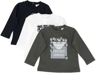 Emporio Armani Kids Graphic Print Long-Sleeve Tops