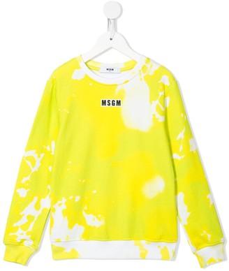 Msgm Kids Dream paint pattern sweatshirt