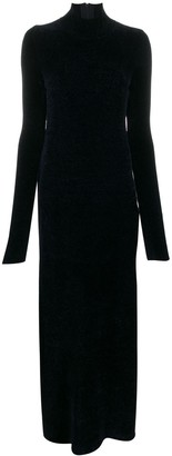 Jil Sander Chenille Knitted Maxi Dress