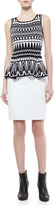 Milly Snake-Print Leather Pencil Skirt