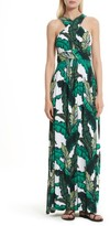 Tracy Reese Women's Print Jersey Crisscross Maxi Dress