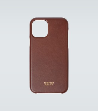 Tom Ford Logo leather iPhone 11 Pro case