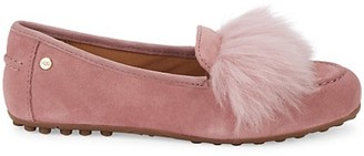 UGG Kaley Shearling-Trim & Faux Fur-Lined Suede Loafers