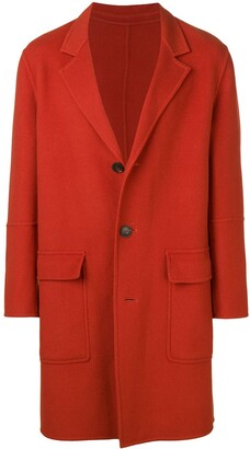 Ami Three Buttons Unlined Coat