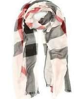 Burberry Check Modal Cashmere Silk Scarf