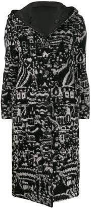 Missoni hooded knit coat