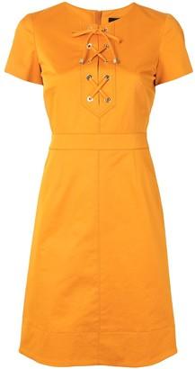 Paule Ka Lace Up Dress