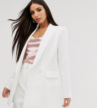Asos Edition EDITION Tall tailored blazer with shawl collar-Grey