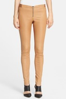 Alice + Olivia Front Zip Genuine Leather Legging