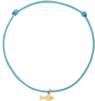 Marie Helene De Taillac 22K Gold And Diamond Fish Charm Bracelet