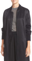 DKNY Ribbed Trim Long Jacket