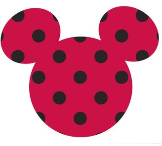 Springs Creative Disney Mickey Small Ears Adhesive Printed Burlap, Red