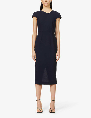 Roland Mouret Ayers wool-crepe mini dress