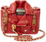 Moschino Women's Ribbed Leather Shoulder Bag