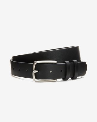 Express Solid Silver Prong Buckle Belt