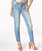 MICHAEL Michael Kors Cotton Studded Rip & Repair Jeans