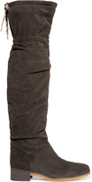 See by Chloe Suede Over-the-knee Boots - Charcoal